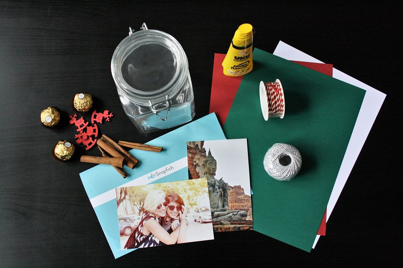 weihnachtlicdhes Basteln - Geschenkverpackung mit Foto