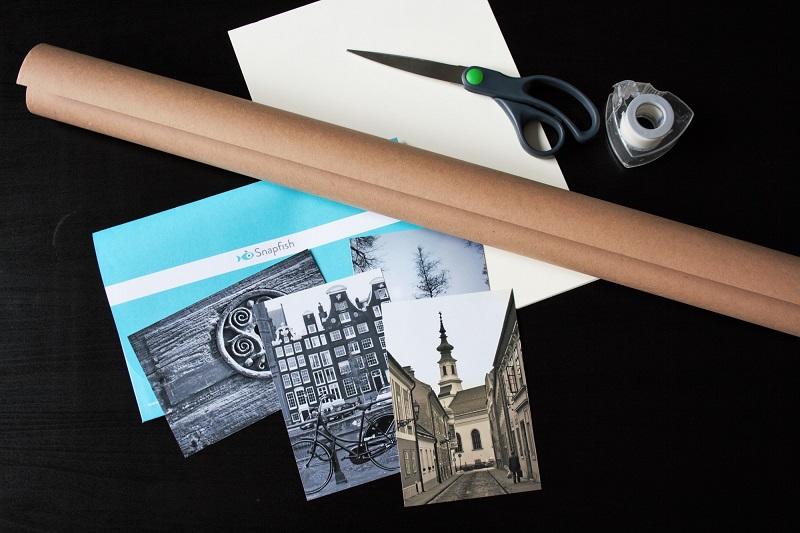 Fotos, Schere, Papier zum Basteln