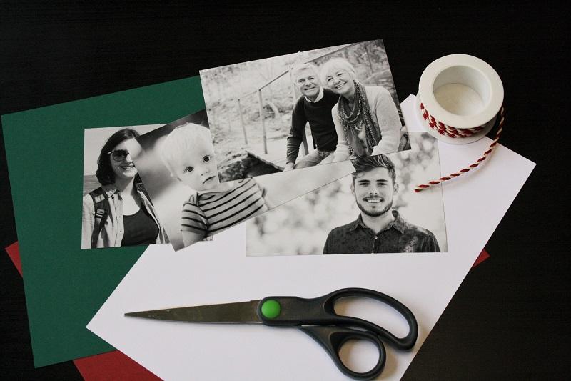 Bastelmaterial für Geschenkanhänger mit Foto