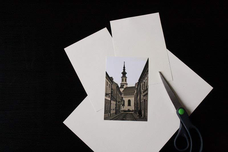 Basteln mit nostalgischem Foto und Tonpapier